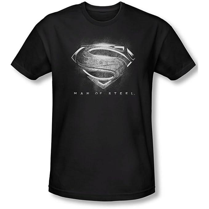 Amazon Man Of Steel Contrast Symbol Slim Fit T Shirt Size S