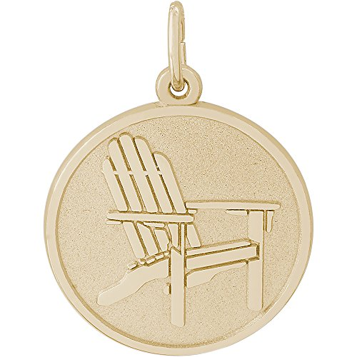 (Rembrandt Charms 14K Yellow Gold Deck Chair Charm (19 x 19 mm))