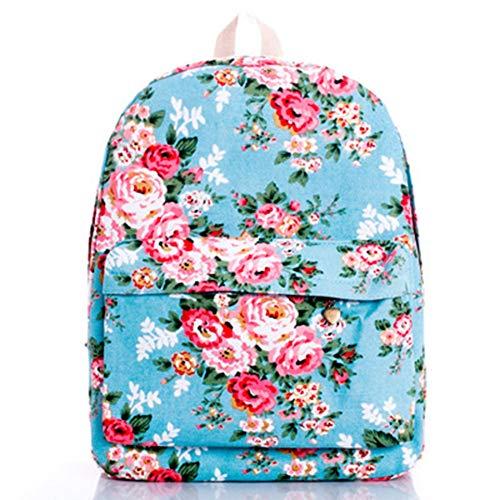 Fleurs Sacs Broderie Rucksack Bagpack Petit Mode VHVCX Jeunes Dos En Canvas À Filles Femme D'École Blue Mochila Floral Cuir Pour Z6CxwSEq
