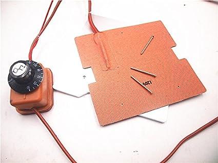 120V / 220V 250W calentador de silicona + placa base de aluminio + ...