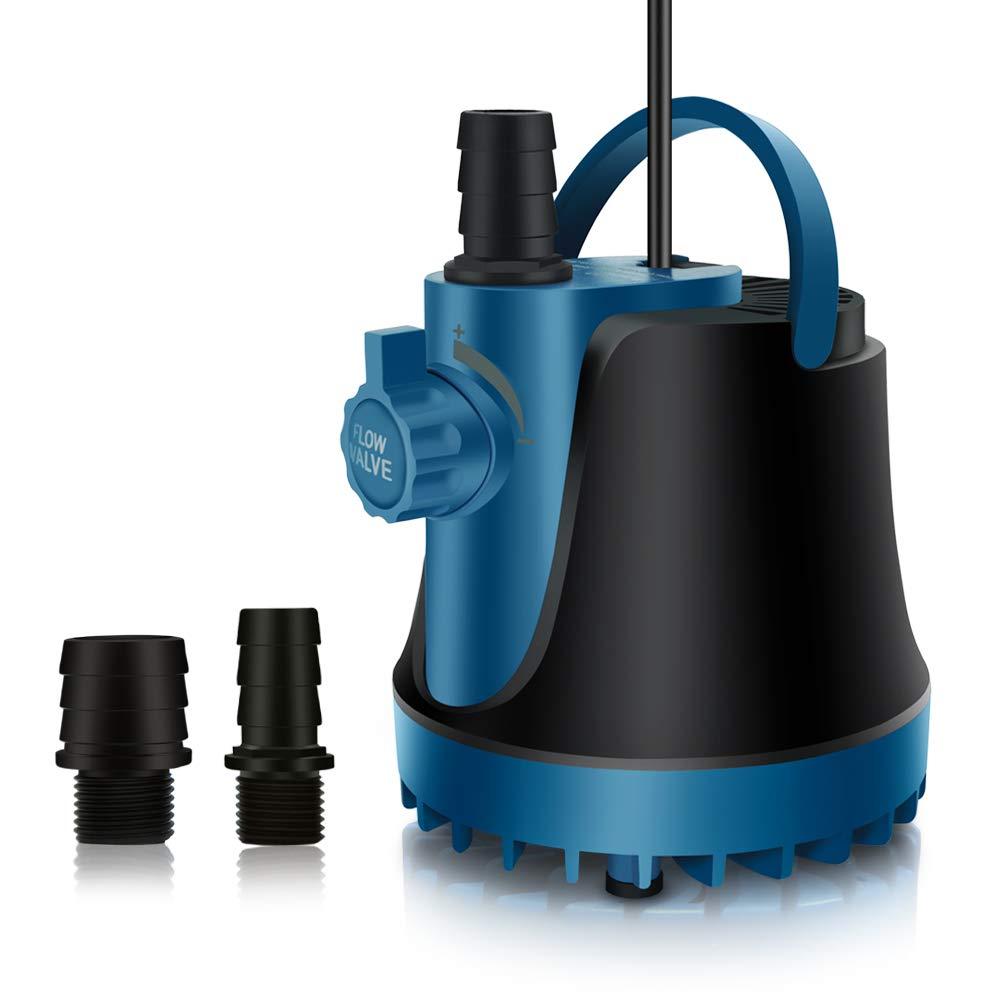 PULACO 800 GPH (3000 L/H 60 W) Submersible Pond Pump for Aquarium Fish Tank, Pond, Fountain, Hydroponics