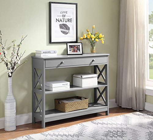 Convenience Concepts 203295GY Oxford Console Table Gray