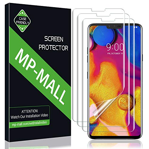 MP-MALL Screen Protector for LG V40 ThinQ, Liquid Skin Screen Protector Case Friendly Bubble Free HD Clear Flexible Film, Lifetime Replacement Warranty