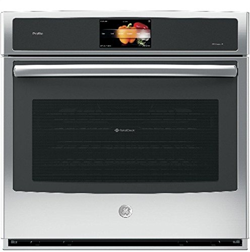 GE Profile PT9051SLSS 30 Inch Smart 5 cu. ft. Total Capacity Electric Single Wall Oven with 2 Oven Racks in Stainless Steel