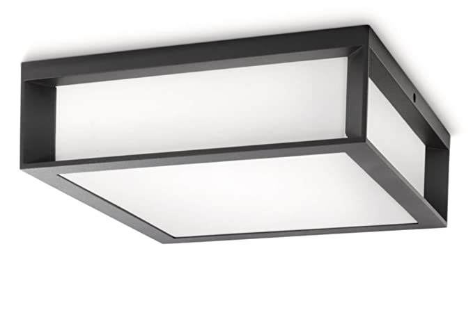 Plafoniere Esterno Philips : Philips skies lampada da parete soffitto per esterno rettangolare