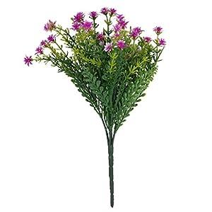 1x Artificial Plastic 5 Branches Jasmine Grass Flower For Home Wedding Decor 21