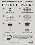 French Press Single Serving Coffee Maker by
