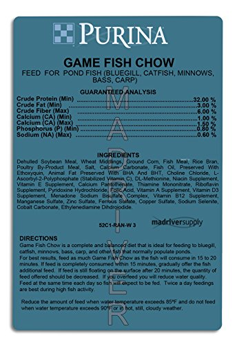 Purina mills game fish chow 32 protein extruded multi for Purina game fish chow