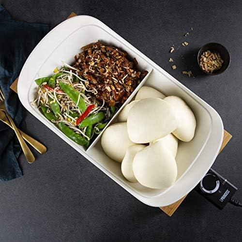 Princess 163030 Multi Cook Pure, revestimiento de cerámica, carcasa natural, 1600 W, Blanco y bambú: Amazon.es: Hogar