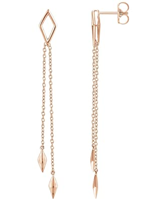 8e626a734a7 Image Unavailable. Image not available for. Color: Geometric Chain Earrings  ...