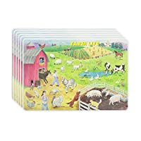 M. Ruskin Company Farm Life Placemat Set of 6