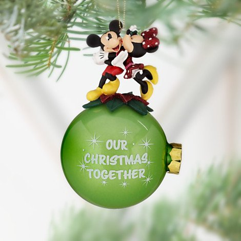 Disney Christmas Balls - Disney Minnie and Mickey Mouse ''Our Christmas Together'' Ornament