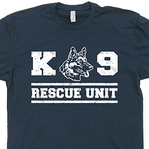 XL - K9 Rescue Dog T Shirt Military Unit Police Handler Fireman German Shepherd Tee Mens Womens Kids Shirtmandude