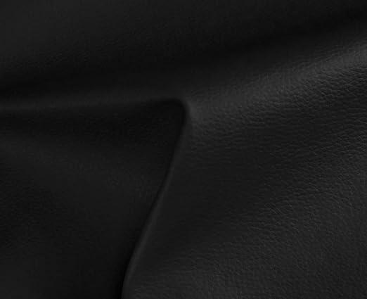 1 Metro de Polipiel para tapizar, Manualidades, Cojines o forrar Objetos. Venta de Polipiel por Metros. Diseño Solar Color Negro Ancho 140cm