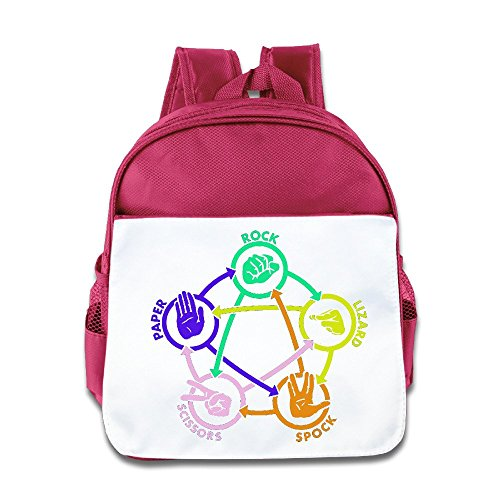 [KimPlay Rock Paper Scissors Unisex Bookbag Backpack Fashion Size Size Key Pink] (Scissors Paper Rock Costume)