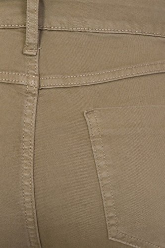 Brand Jeggings 5 Stretch FashionLabels4Less Ex Added Khaki Street with 9334 Mix High Pocket wqxftHBR