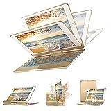 Keyboard Case for iPad 9.7 - KIPIDA 7 Colors Backlit 360 Rotatable Wireless Keyboard Case - iPad Case with Keyboard Compatible with iPad 2018(6th) - iPad 2017(5th) - iPad Air - iPad Air 2 - iPad pro 9.7 (Gold)