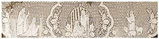 product image for Heritage Lace Silent Night 20-Inch by 90-Inch White Mantle Scarf