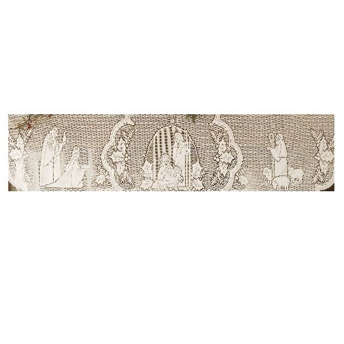 Heritage Lace Silent Night 20-Inch by 90-Inch White Mantle Scarf (Christmas Mantel Scarf)