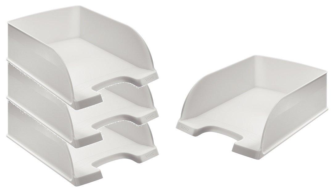 Leitz 52330001 Briefkorb Jumbo Plus, A4, extra hoch, Polystrol, weiß weiß Esselte Leitz
