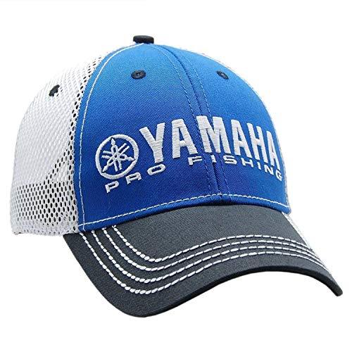 (Yamaha New OEM Pro Fishing Mesh Hat, Blue w/Black Bill, CRP-16HPF-BK-NS)
