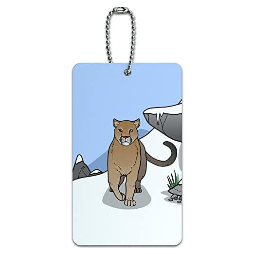 4b5bb46a67469 Amazon.com | Mountain Lion Cougar Puma Panther Snow Luggage Card ...
