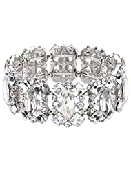 Ever Faith Austrian Crystal Art Deco Elegant Bridal Elastic Stretch Bracelet