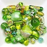 Mélange perles de verre 6 à 28mm vert