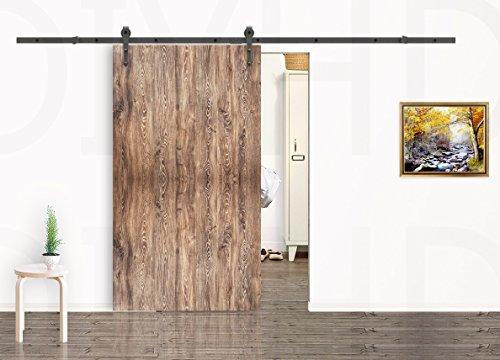 Black Bottom Floor Guide Stay Roller for Sliding Barn Doors Goldenwarm DG03 Adjustable Channel Wall Mount Door Hardware