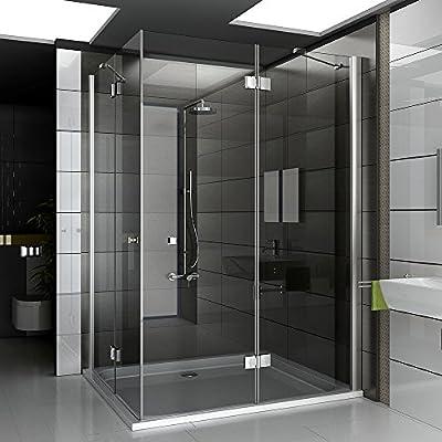Vidrio Mampara De 120 x 140 x 195 cm 3078193010 métrica Diseño Cristal de cabina de ducha Ducha Pared Baño Ducha Incluye los arañazos de vidrio: Amazon.es: Bricolaje y herramientas
