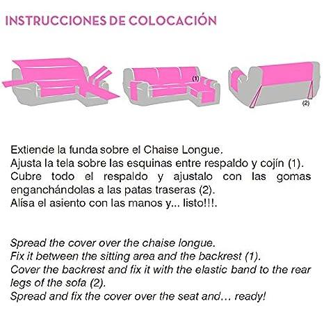 Jarrous Funda Cubre Chaise Longue Práctica Impermeable Modelo Gijón, Color Crudo-00, Medida Brazo Izquierdo – 240cm (Mirándolo de Frente)