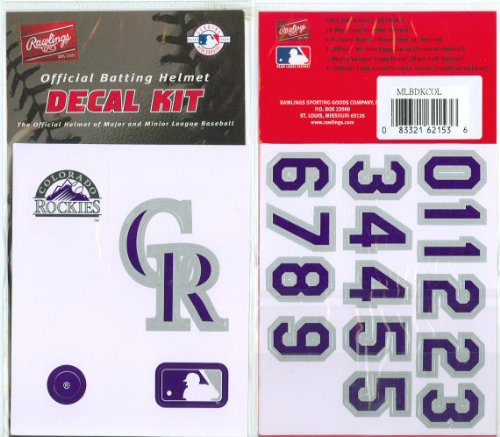 Rawlings Authentic MLB Official Batting Helmet Decal Kit ()