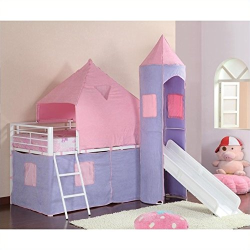 Castle Styled Twin Loft Bed - coaster 460279