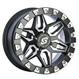 4/137 Sedona Split 6 Beadlock Wheel 14x7 5.0 + 2.0 Black for Can-Am Maverick X3 X DS Turbo R 2017-2018