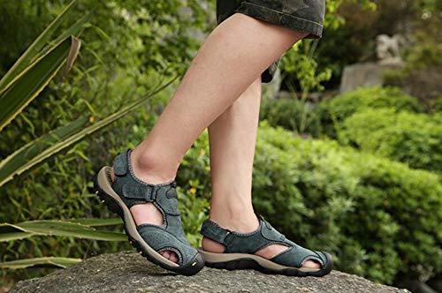 Randonnée Entraînement Chaussures toe Fermé Sandales En Loop 42 Crochet Pour De Plage a Cuir hy Outdoor Cai amp; Fermées Hommes toe aqZFww0