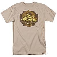 Trevco Men's Cheers Short Sleeve T-Shirt, Sand, Medium