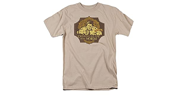 Cheers 80s TV Show NBC The Norm - Camiseta para adulto - Beige - Large: Amazon.es: Ropa y accesorios