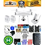 DJI Phantom 4 Advanced Drone MEGA Ready To Fly EXTREME ACCESSORY BUNDLE With 2 Batteires (Total), Vest Strap, Extra Props, Landing Pad, Filter Kit Plus Much More (Hard Shell)