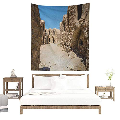 Wall Hanging Tapestry Galaxy One of Abandoned Sets of The Movie in The Desert Phantom Menace Antique Cave Houses 60W x 91L INCH Suitable for Bedroom Living Room -