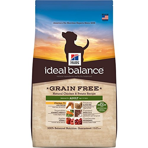 Hill'S Ideal Balance Adult Grain Free Dog Food, Natural Chicken & Potato Recipe Dry Dog Food, 21 Lb Bag