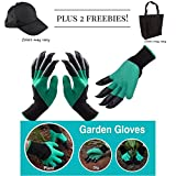 Both Hands Claw Garden Gloves with Durable ABS Claws - Great for Digging and Planting - Easy to Use for Pruning and Weeding One Pair