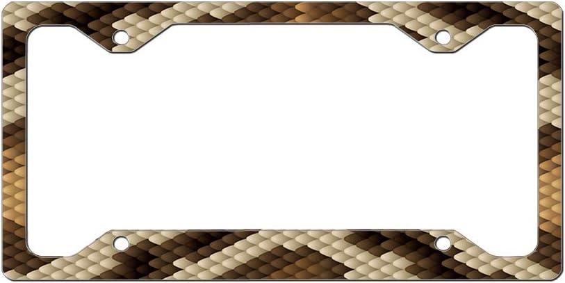 Custom License Plate Frame Sneak Skin Seamless Pattern Aluminum Cute Car Accessories Narrow Top Design Only One Frame