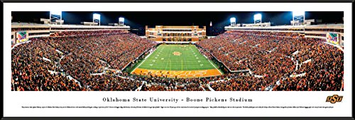 Oklahoma State Cowboys - Boone Pickens Stadium - End Zone - Framed Poster Print