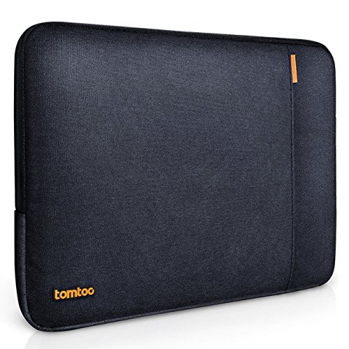 Tomtoc 360° Protective Sleeve for 13 Inch New MacBook Pro 2016 Touch Bar/ 12.9 Inch iPad Pro, Shockproof, Spill-Resistant 13 Inch Laptop Case Bag Cover, Black Blue