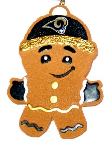 ST.Louis Rams 2013 Resin Gingerbread Man Ornament