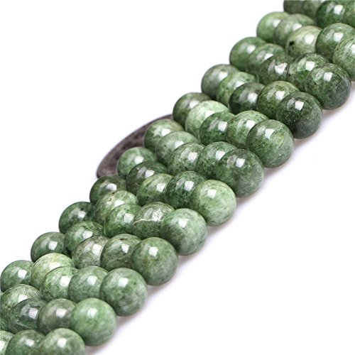 8mm Natural Green Diopside Stone Gemstone Semi Precious Round Beads for Jewelry Making (Diopside Round)