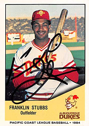 Autograph Warehouse 344631 Franklin Stubbs Autographed Baseball Card - Minor League44; Albuquerque Dukes 1984 Cramer Sports No. 151