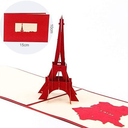 3d Francia Torre Eiffel Pop Up Tarjeta De Felicitación