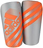 adidas Performance Ghost Shin Guards, Silver Metallic/Solar Orange, Small
