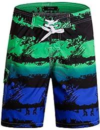 537e1da0ac968 Men's Quick Dry Swim Trunks with Pockets Long Elastic Waistband Beach Board  Shorts Bathing Suits